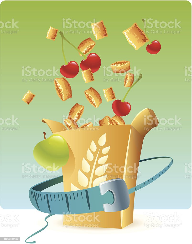 healthy lifestyle vector art illustration