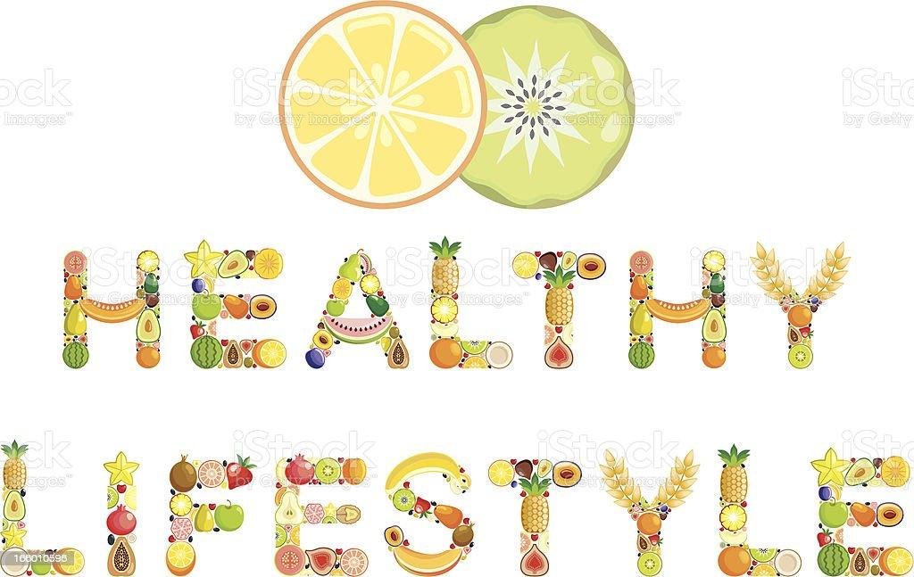 Healthy lifestyle vector art illustration