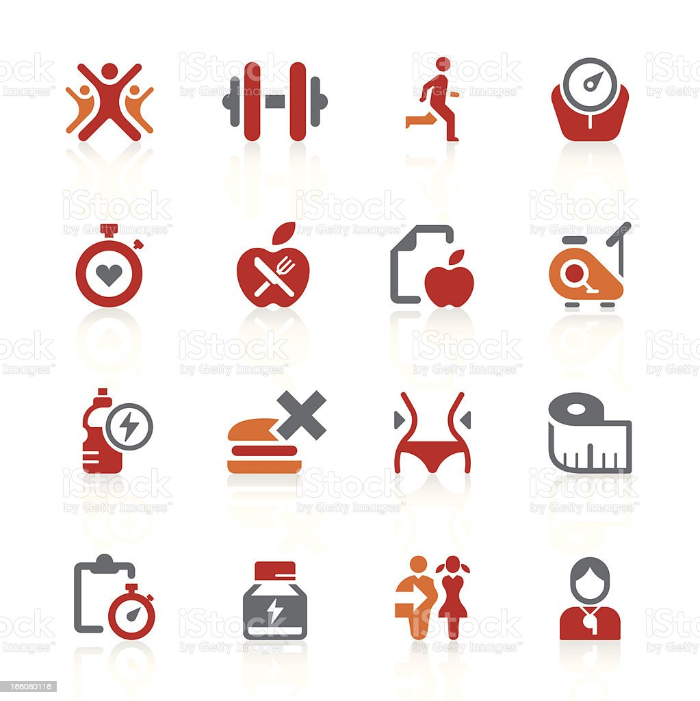 Healthy living icons | alto series vector art illustration