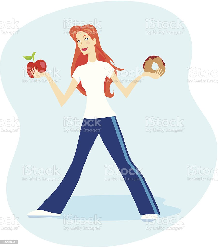 Healthy options royalty-free stock vector art