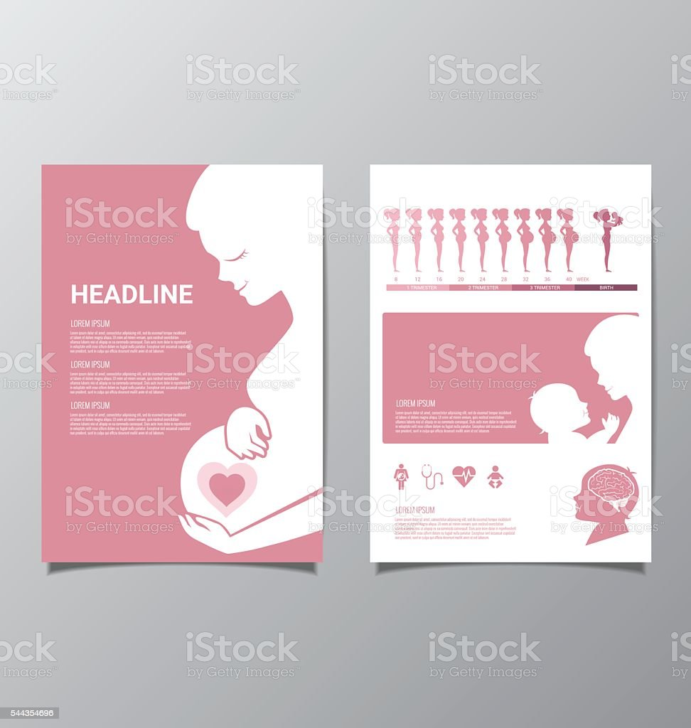 Healthy Pregnant women infographic vector art illustration