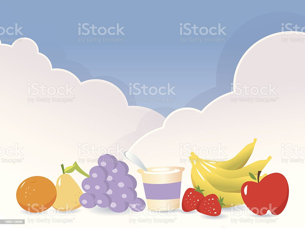 Healthy Selections vector art illustration