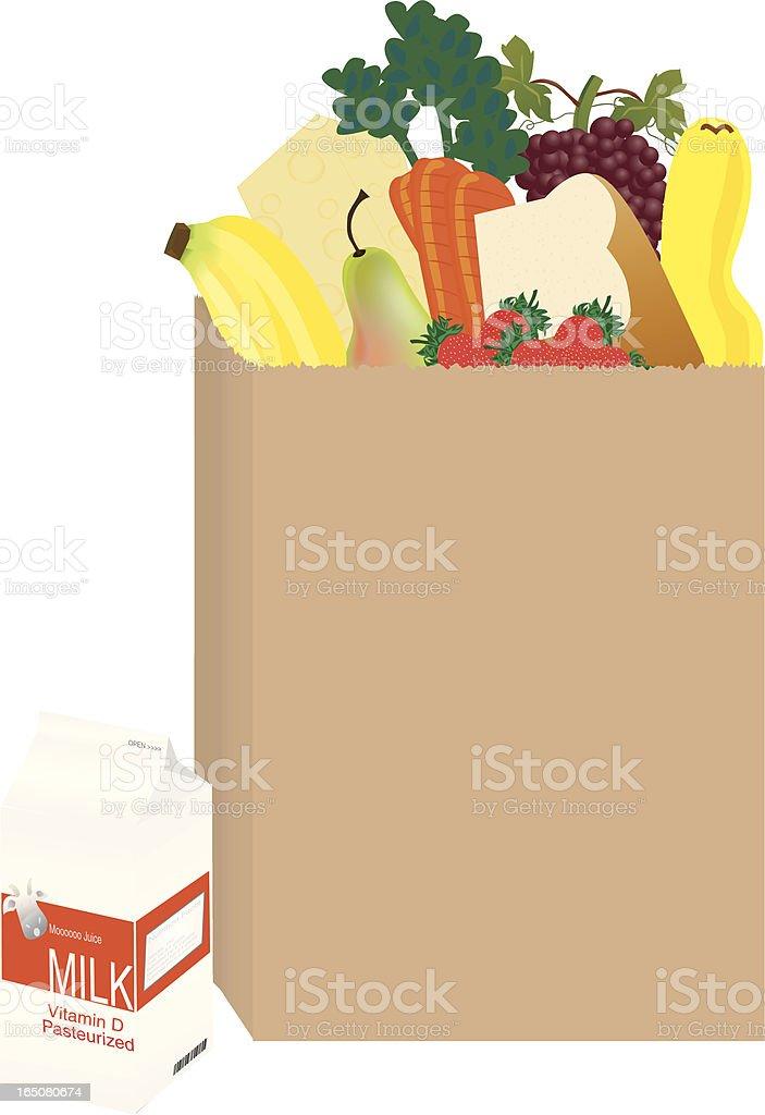 Healthy Shopping vector art illustration