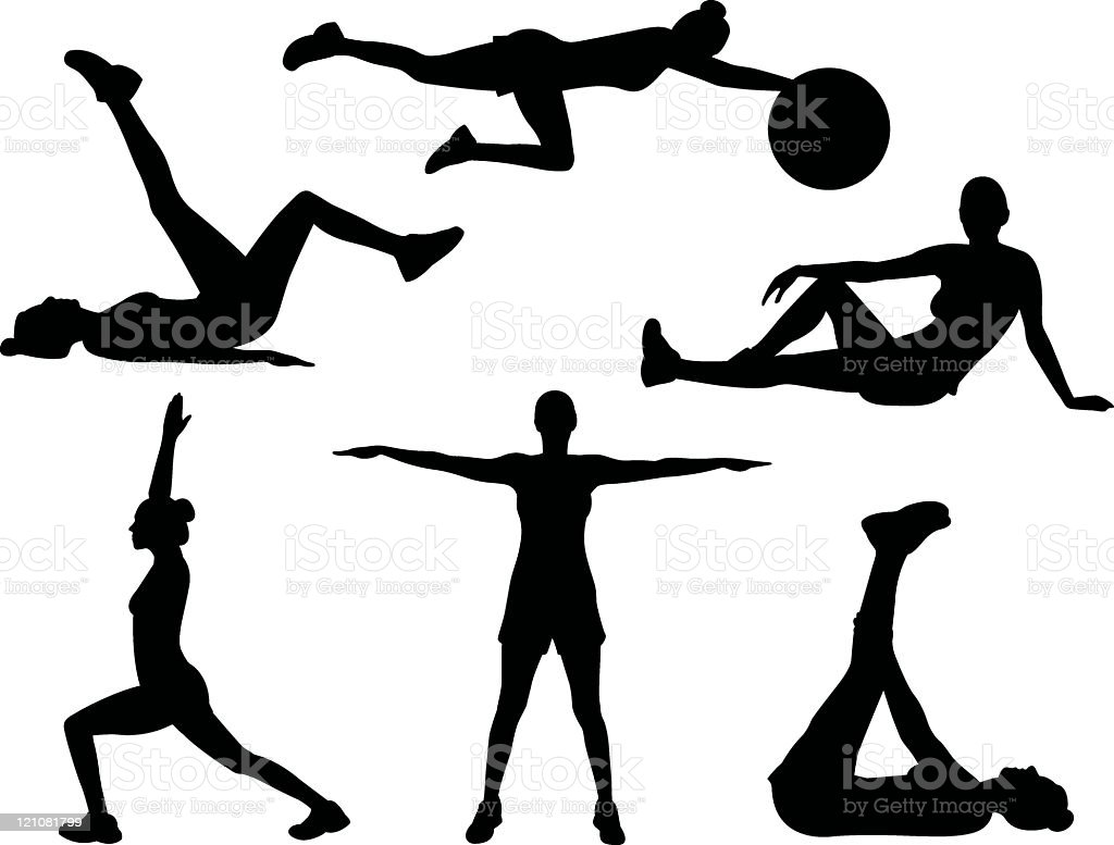 Healthy silhouettes royalty-free stock vector art