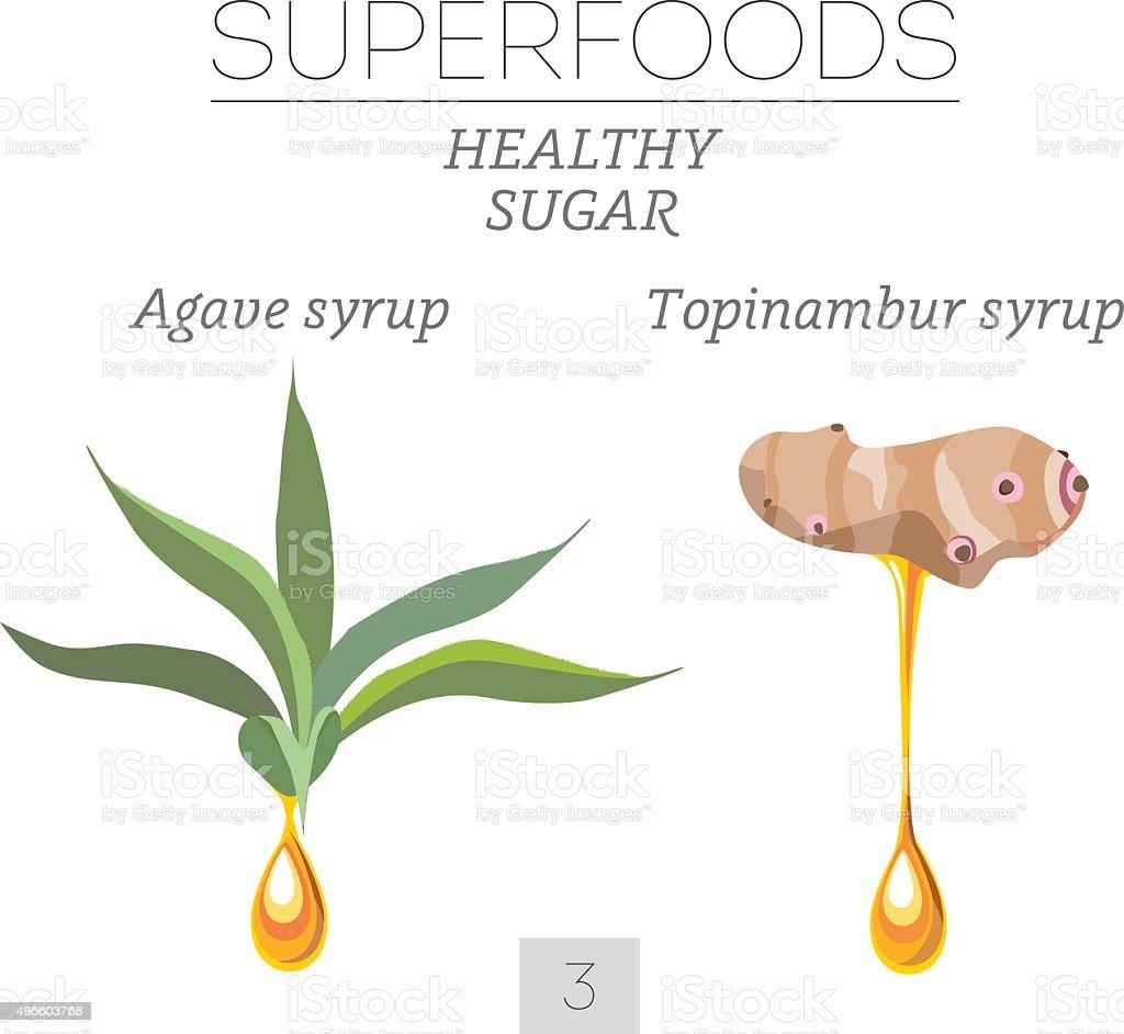 Healthy sugar. Set 3 vector art illustration