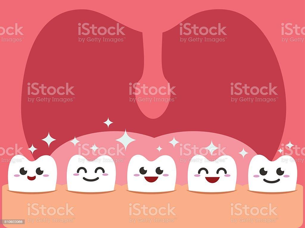 Healthy Teeth vector art illustration