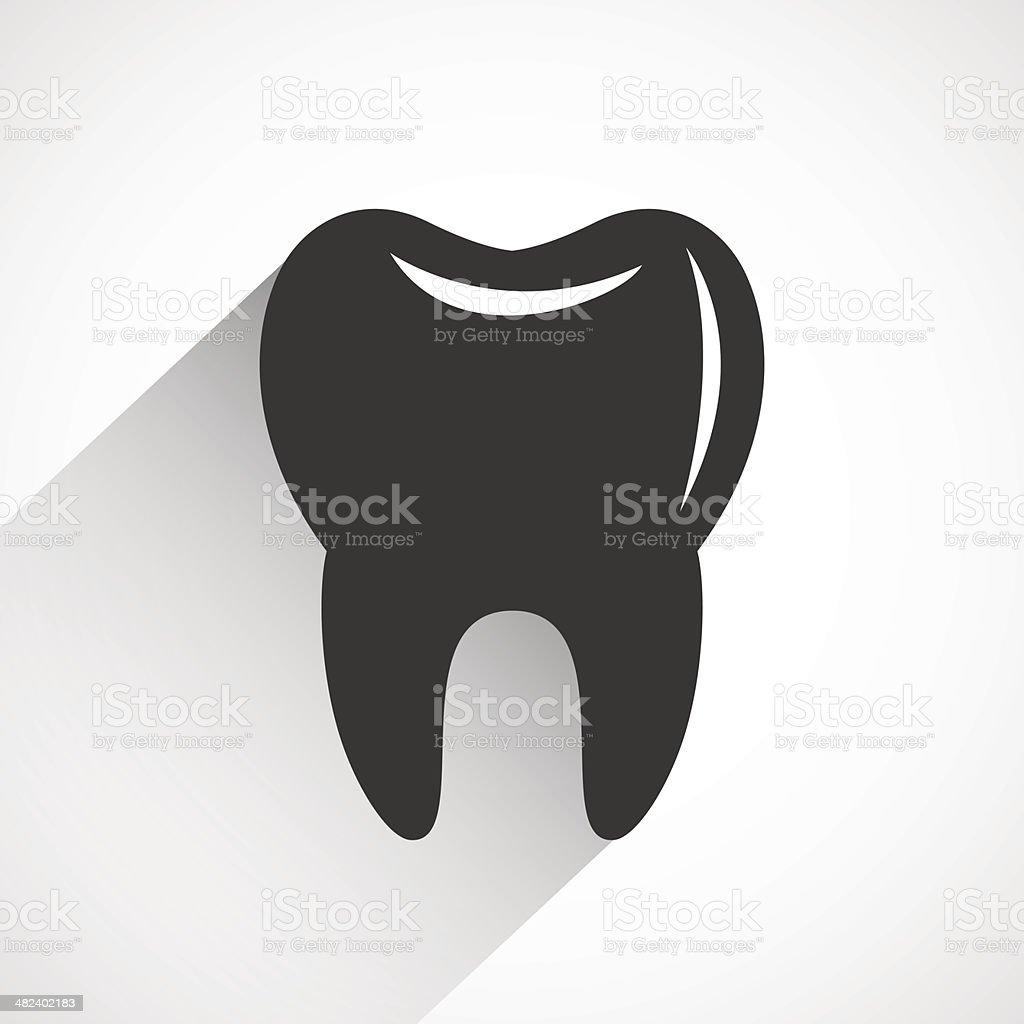 Healthy tooth icon vector royalty-free stock vector art