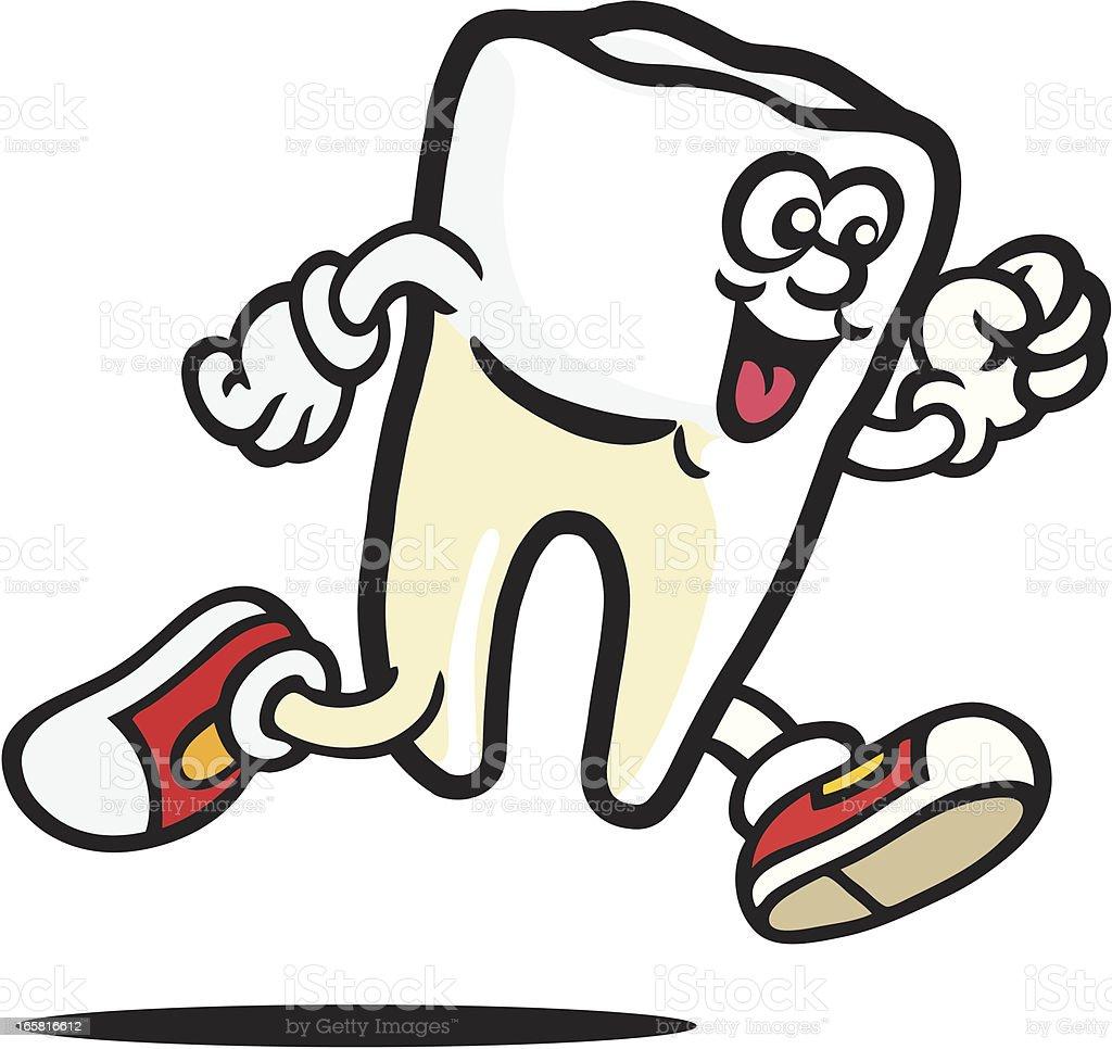 Healthy Tooth vector art illustration