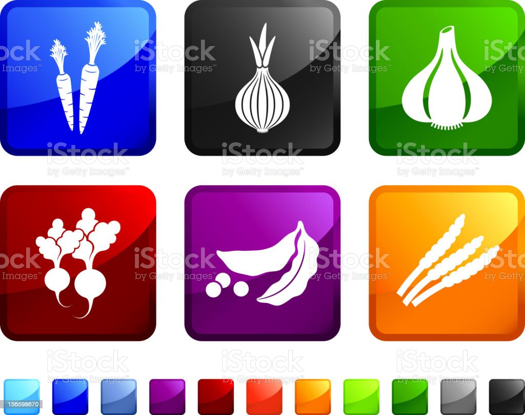 Healthy Vegetables royalty free vector icon set royalty-free stock vector art