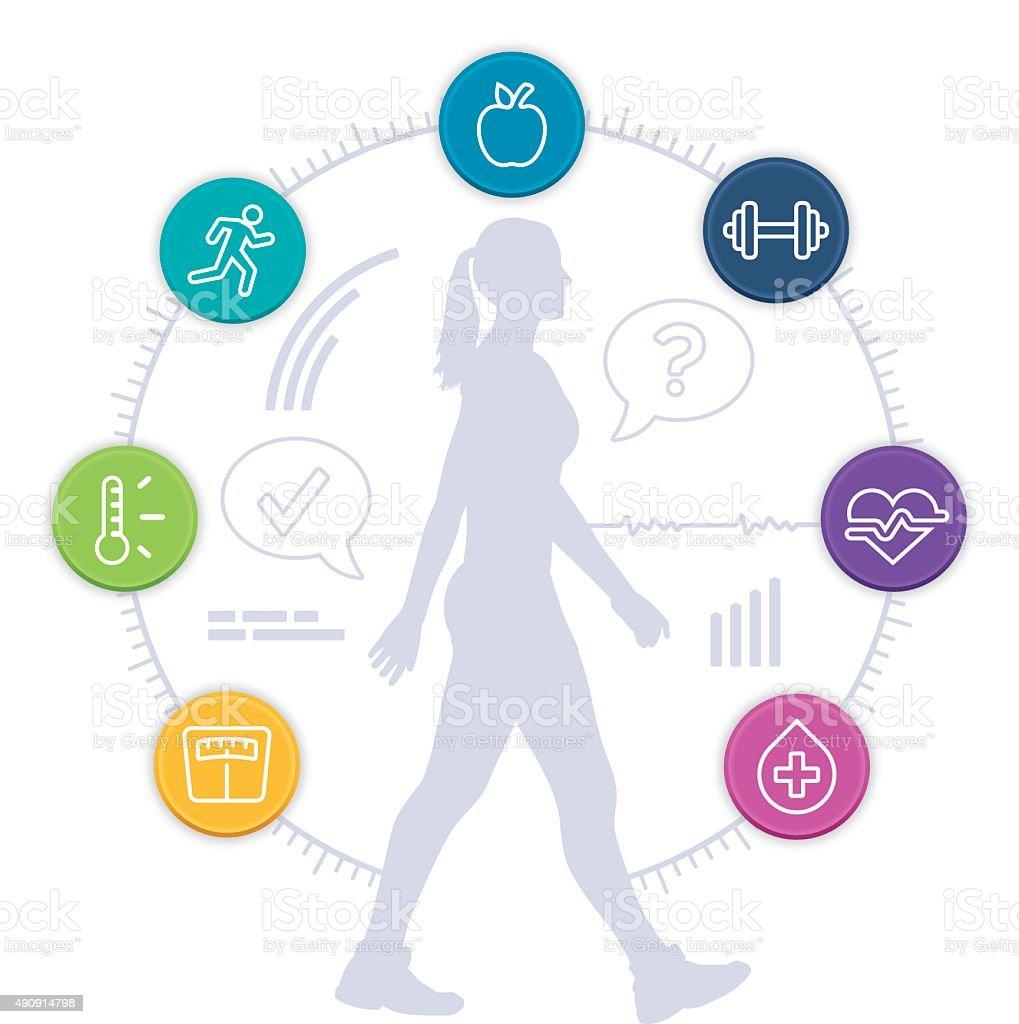 Healthy Woman vector art illustration