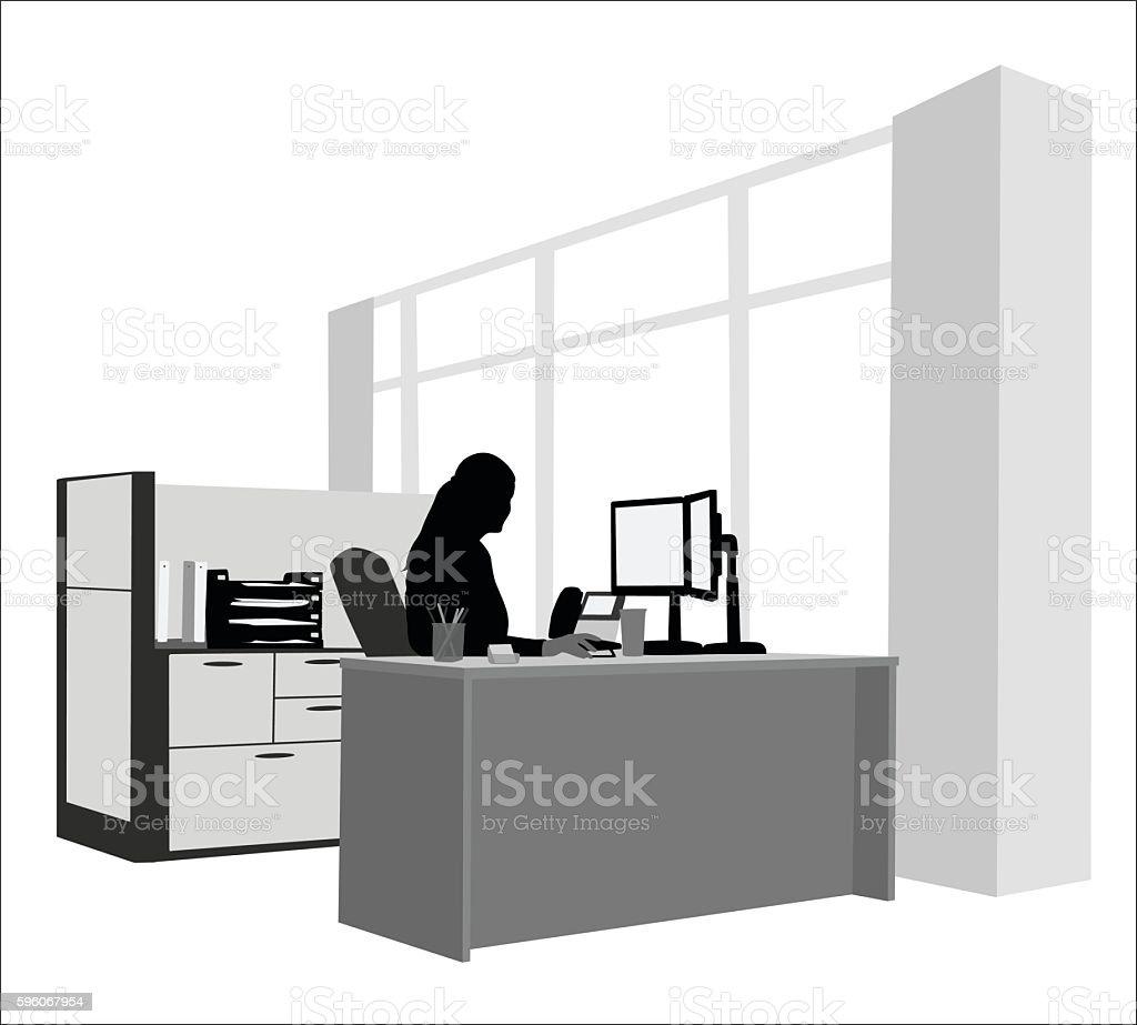 Healthy Work Environment vector art illustration