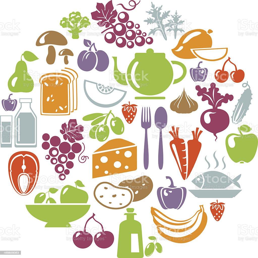 HealthyCircle vector art illustration