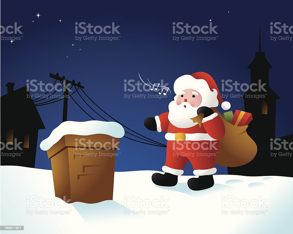 I Hear Santa! royalty-free stock vector art