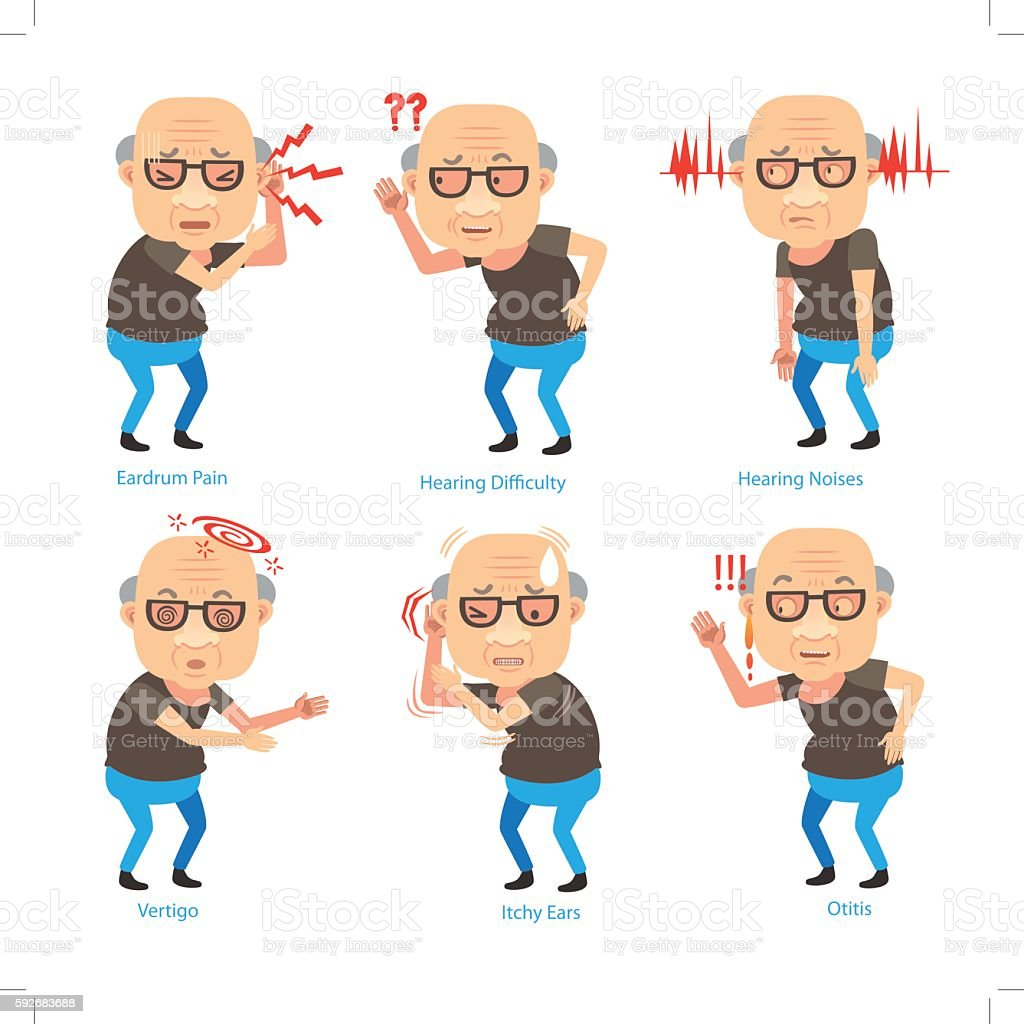 Hearing Loss vector art illustration