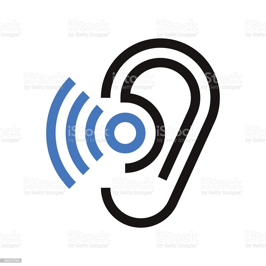 Hearing symbol vector art illustration