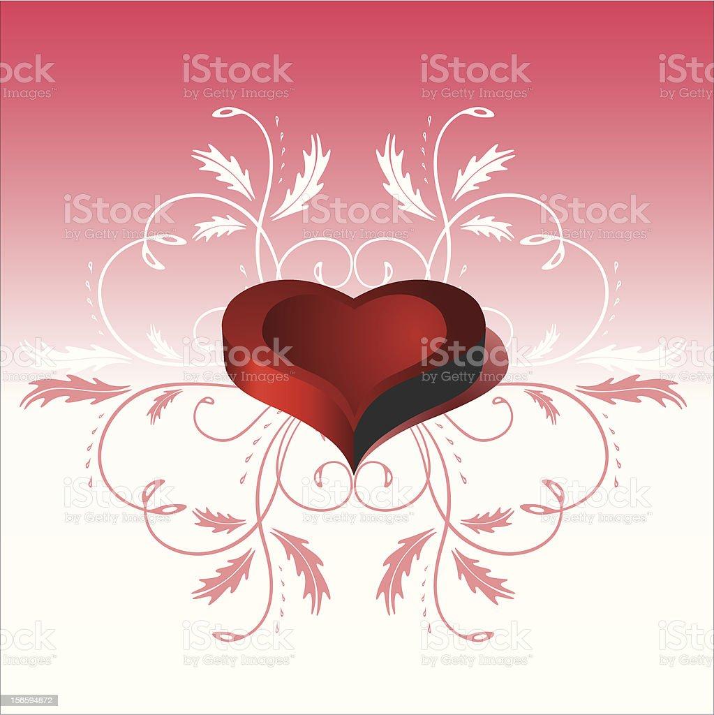 Heart 3D royalty-free stock vector art