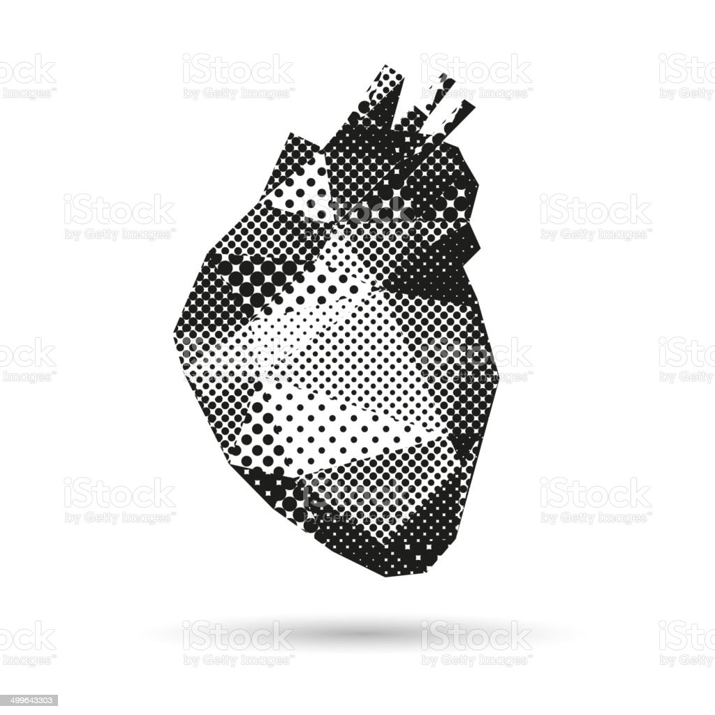 Heart abstract isolated on a white backgrounds royalty-free stock vector art
