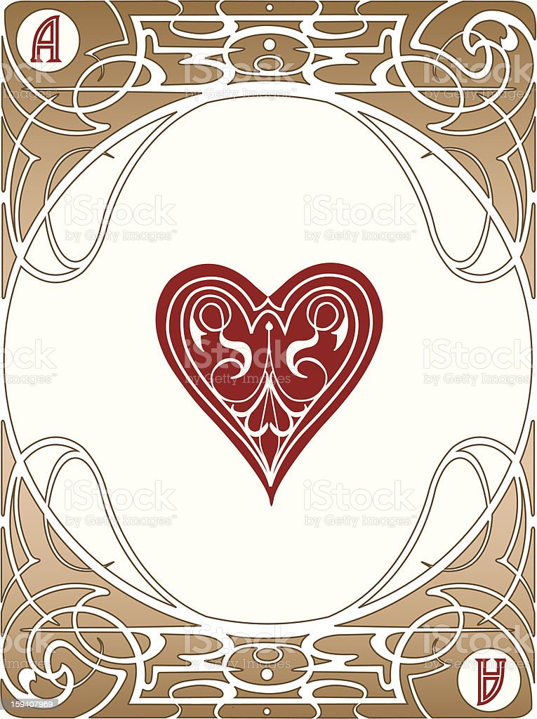 Heart Ace Card stock photo