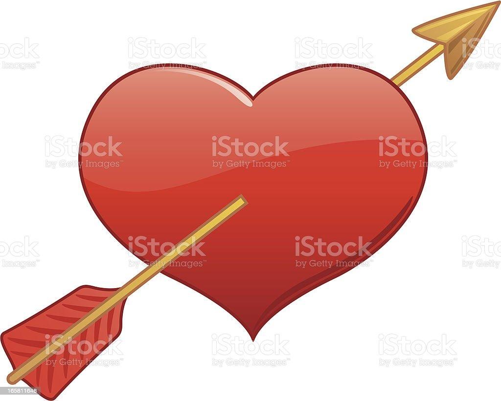 Heart and Arrow royalty-free stock vector art