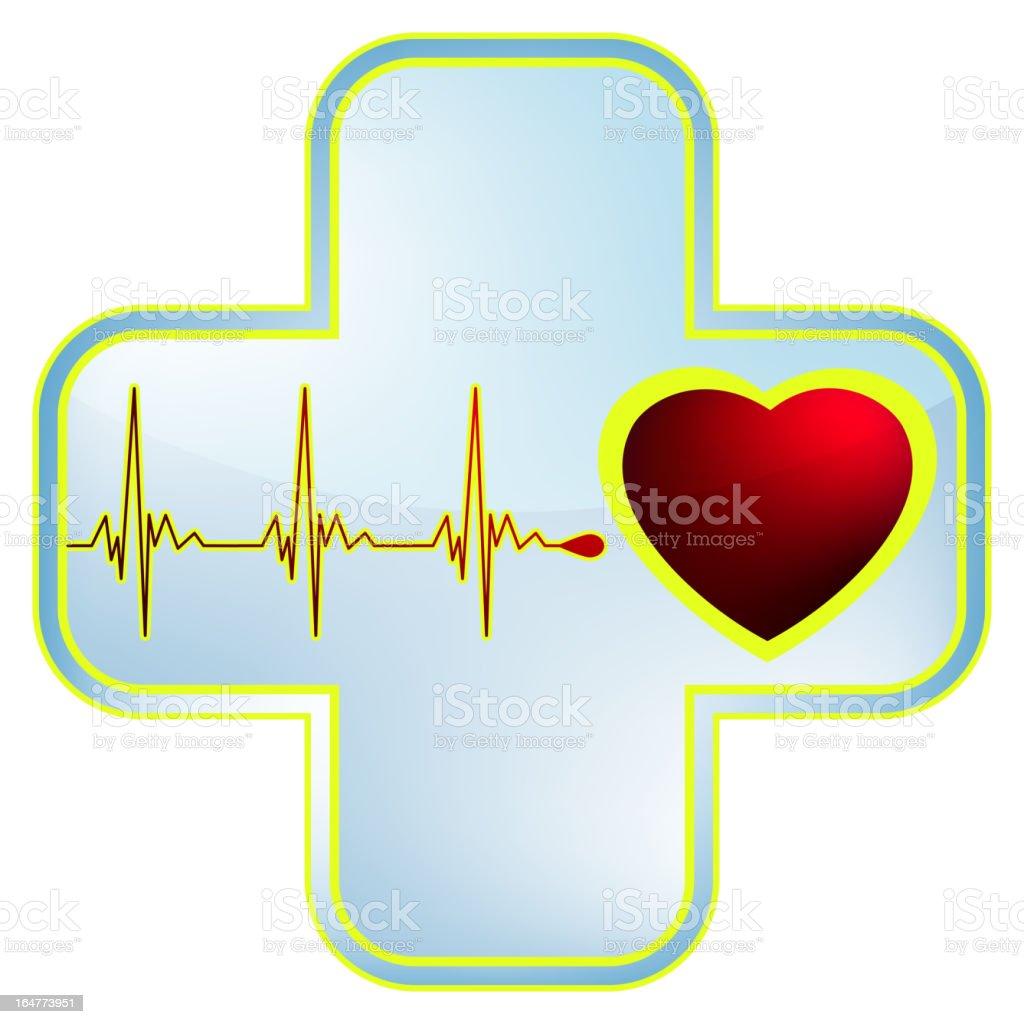 Heart and heartbeat symbol. EPS 8 royalty-free stock vector art