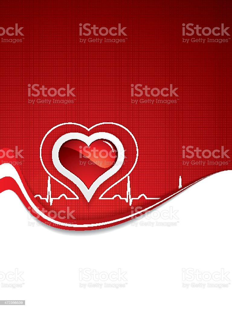 Heart and heartbeat symbol.Medical royalty-free stock vector art