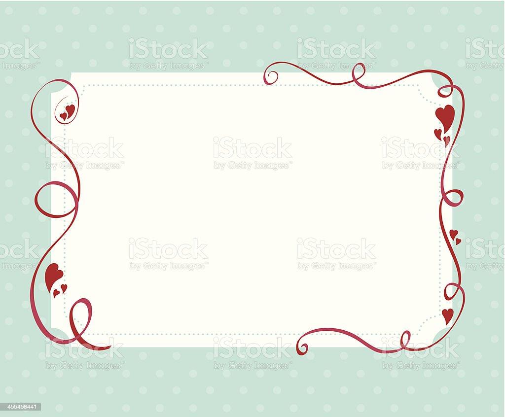Heart and ribbon border royalty-free stock vector art