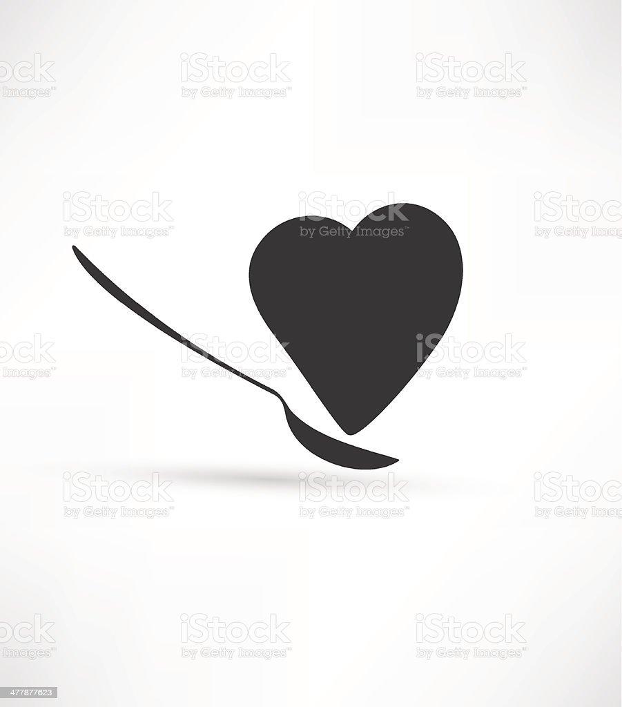 Heart and Spoon vector art illustration