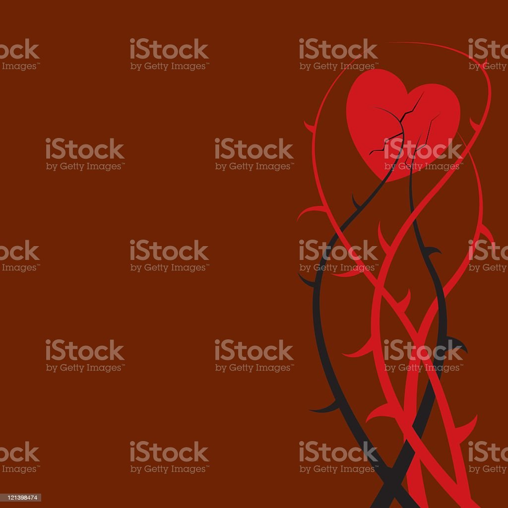 Heart and Thorns royalty-free stock vector art