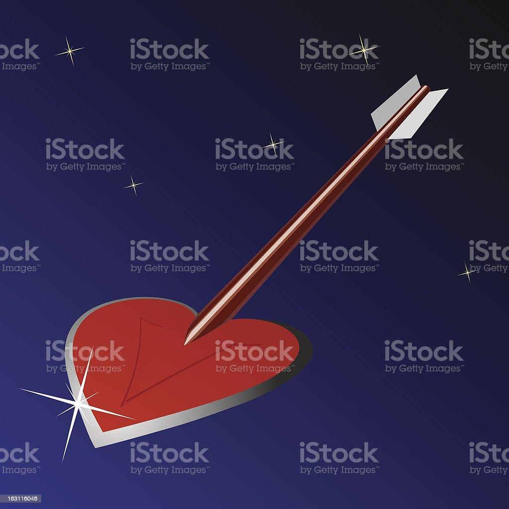 Heart arrow royalty-free stock vector art