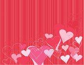Heart background - grunge red