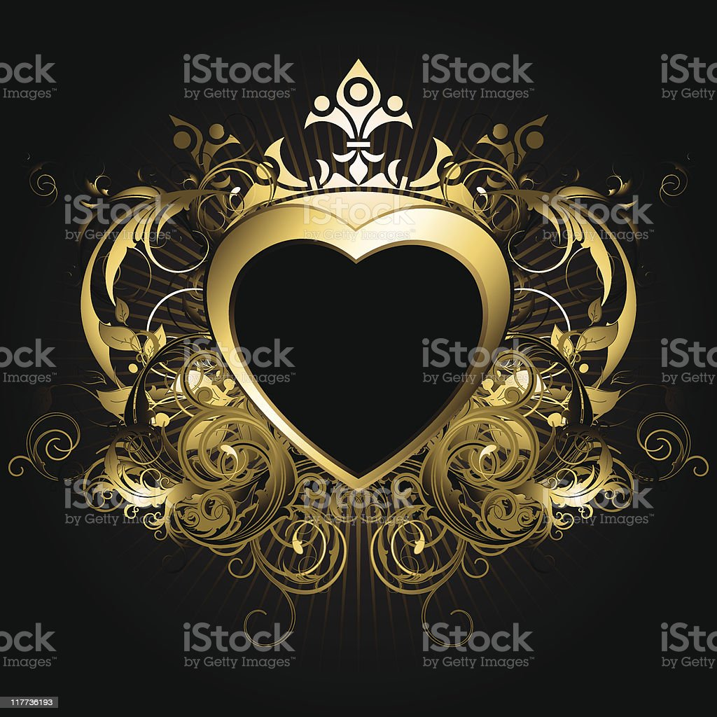 heart background royalty-free stock vector art