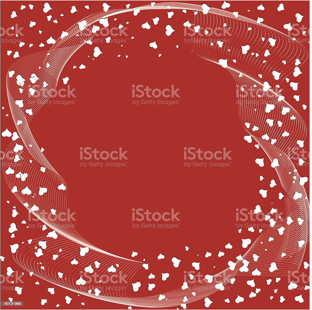 Heart background - vector royalty-free stock vector art
