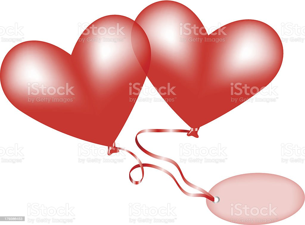 heart balloons royalty-free stock vector art
