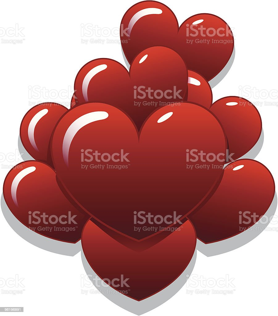 Heart Balloons vector art illustration