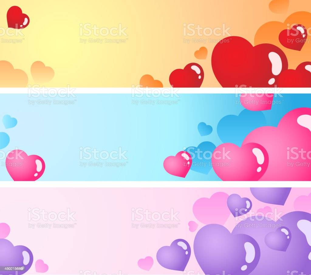 Heart banners collection 1 royalty-free stock vector art