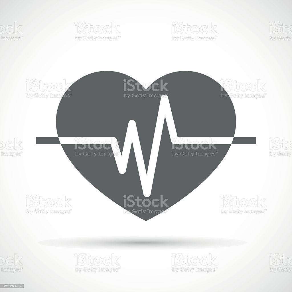 Heart beat Icon vector art illustration