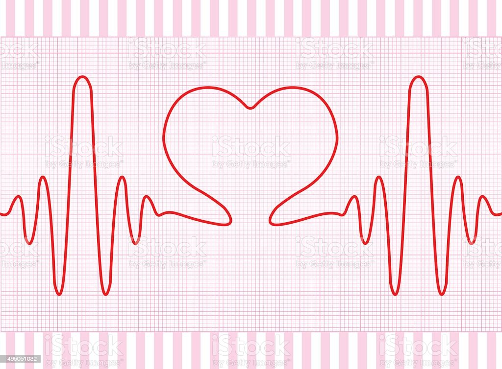 Heart Beat vector art illustration