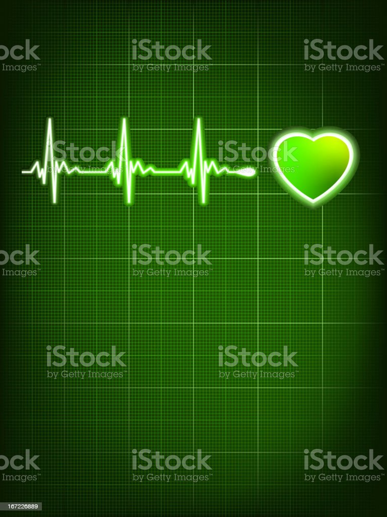 Heart beating monitor. EPS 8 royalty-free stock vector art
