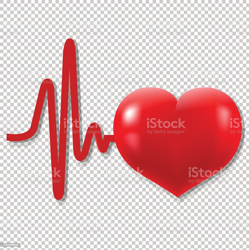 Heart Beats vector art illustration