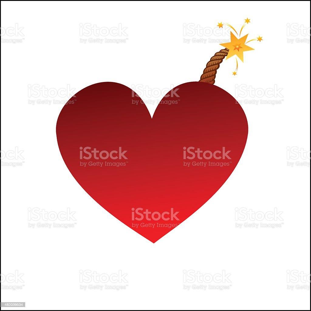 Heart bomb royalty-free stock vector art