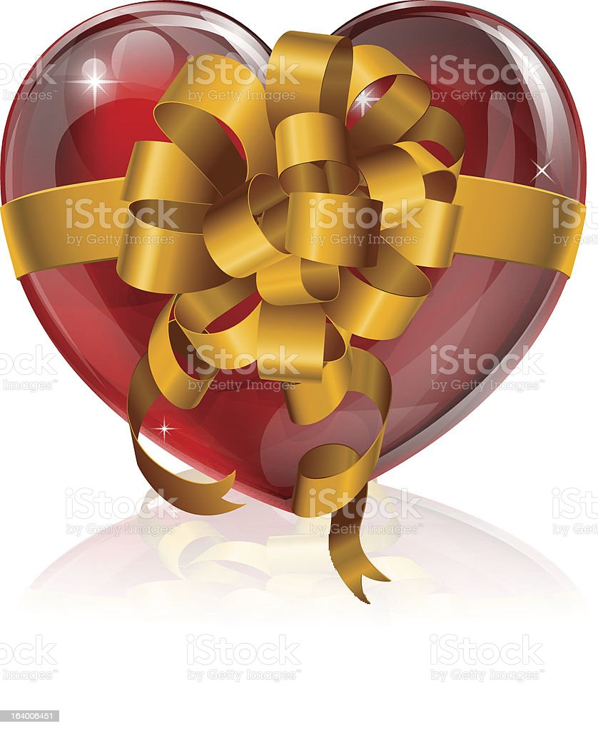 Heart bow gift concept royalty-free stock vector art