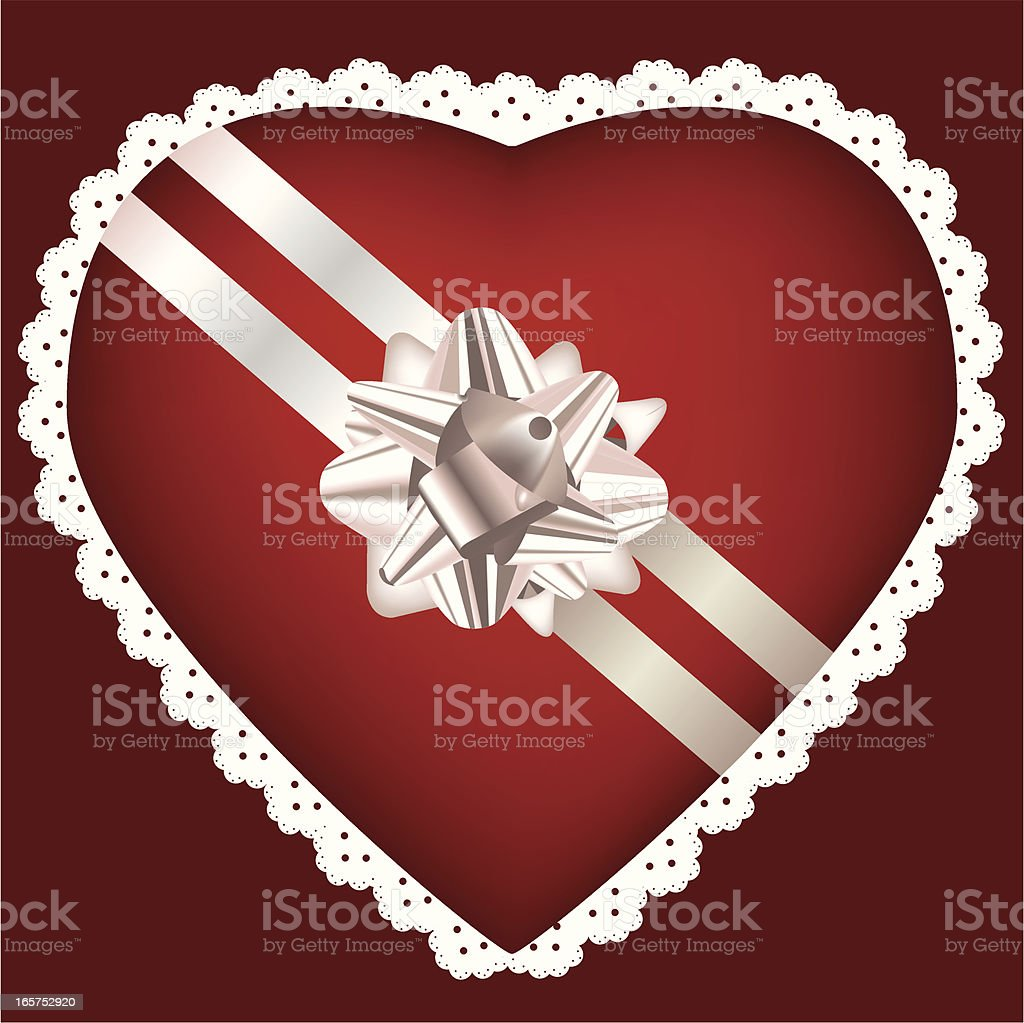 Heart Box royalty-free stock vector art