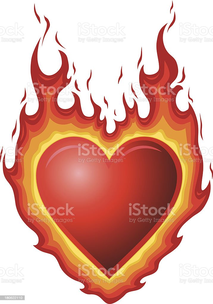 Heart Burn vector art illustration