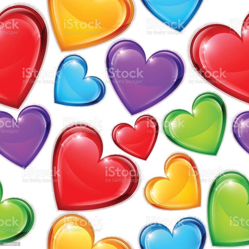 Heart Candies Pattern vector art illustration