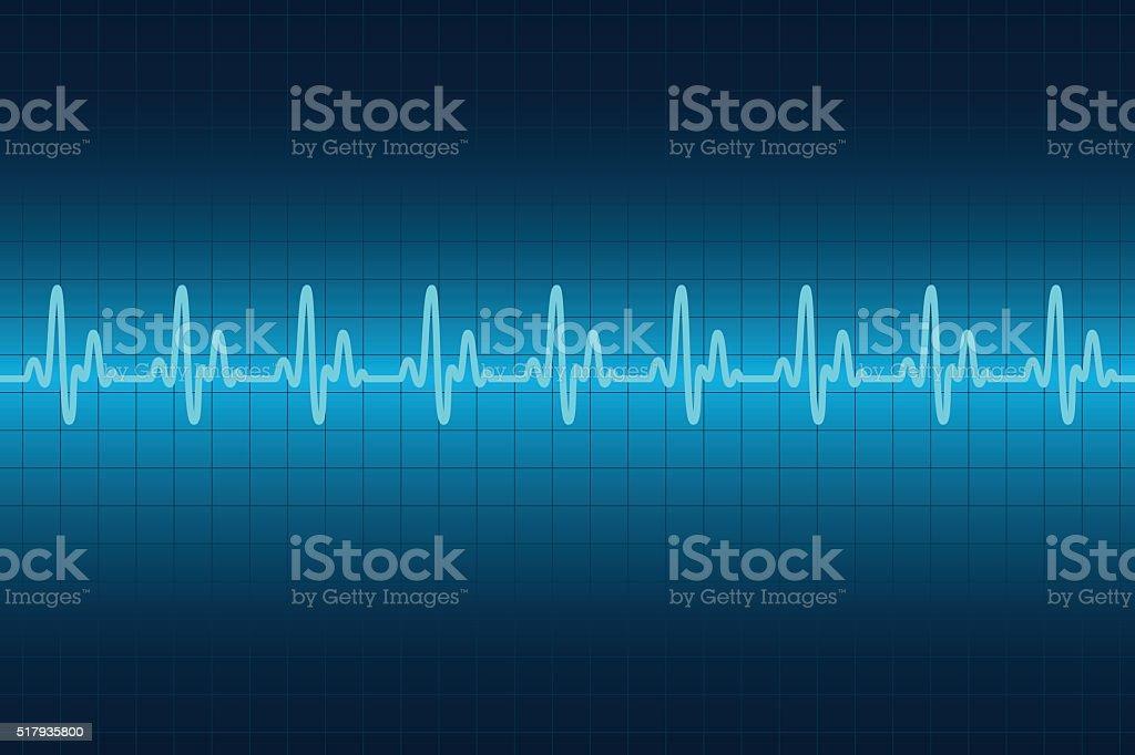 Heart cardiogram monitor. Rhythm heart. vector art illustration