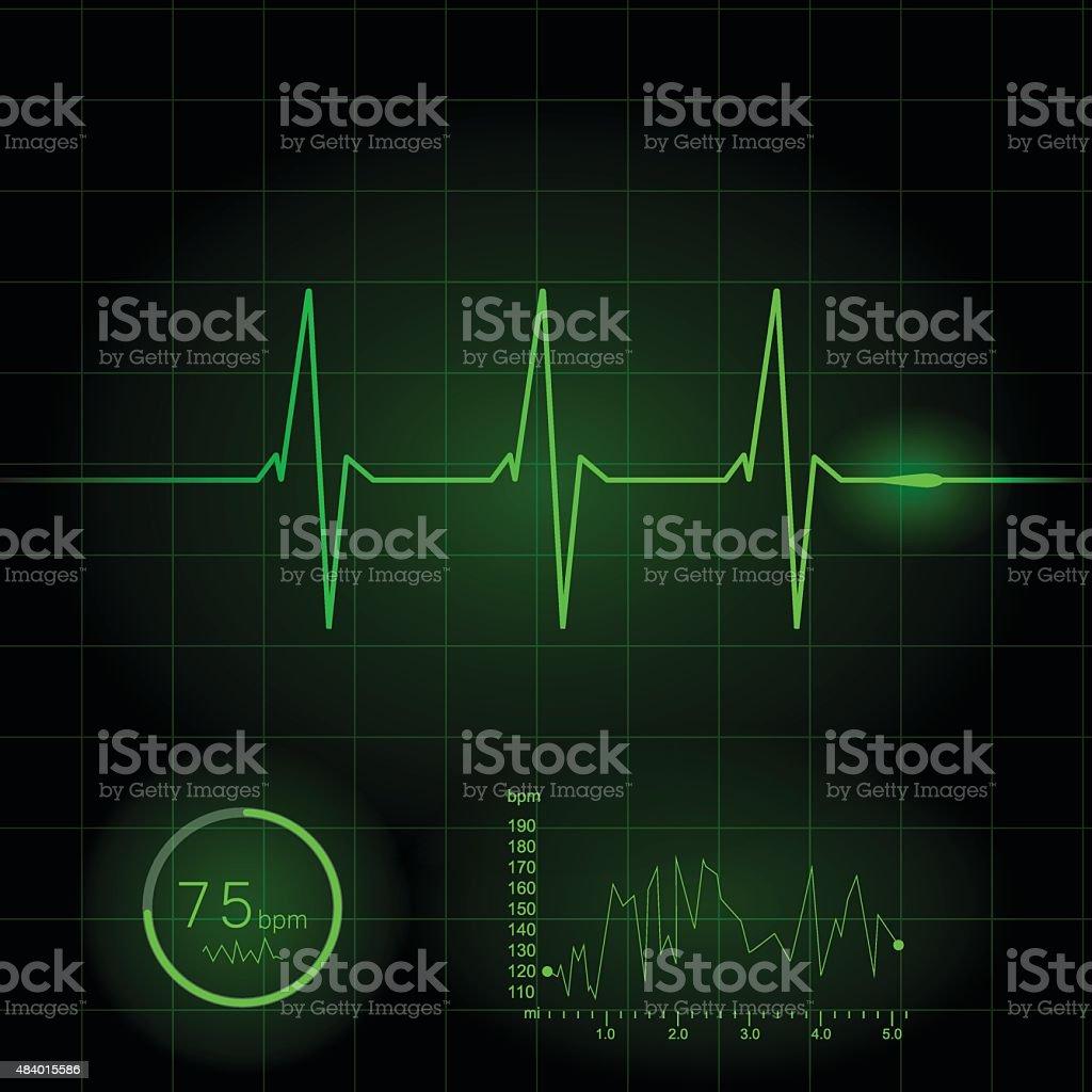 Heart cardiogram vector illustration vector art illustration
