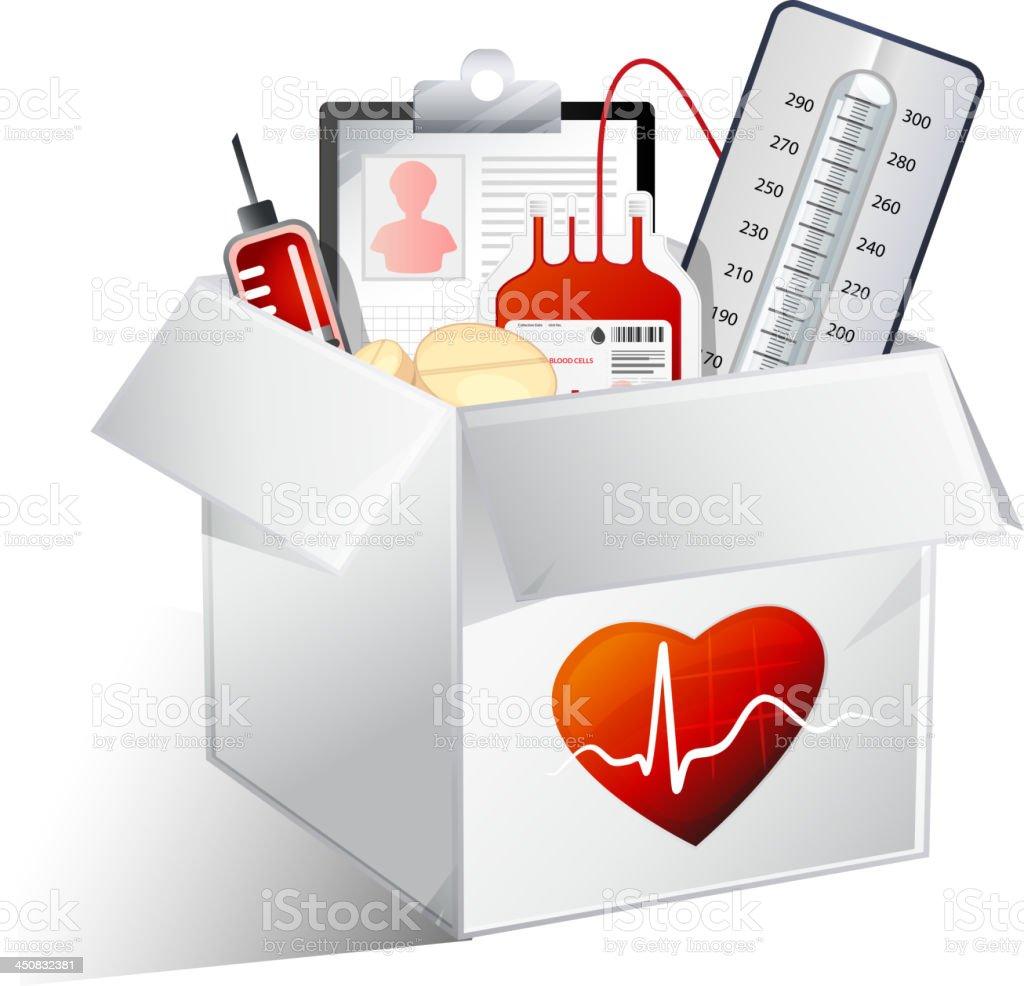 Heart Care Box royalty-free stock vector art