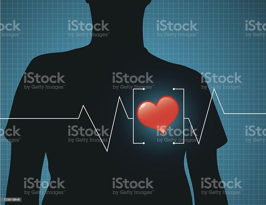 Heart care royalty-free stock vector art