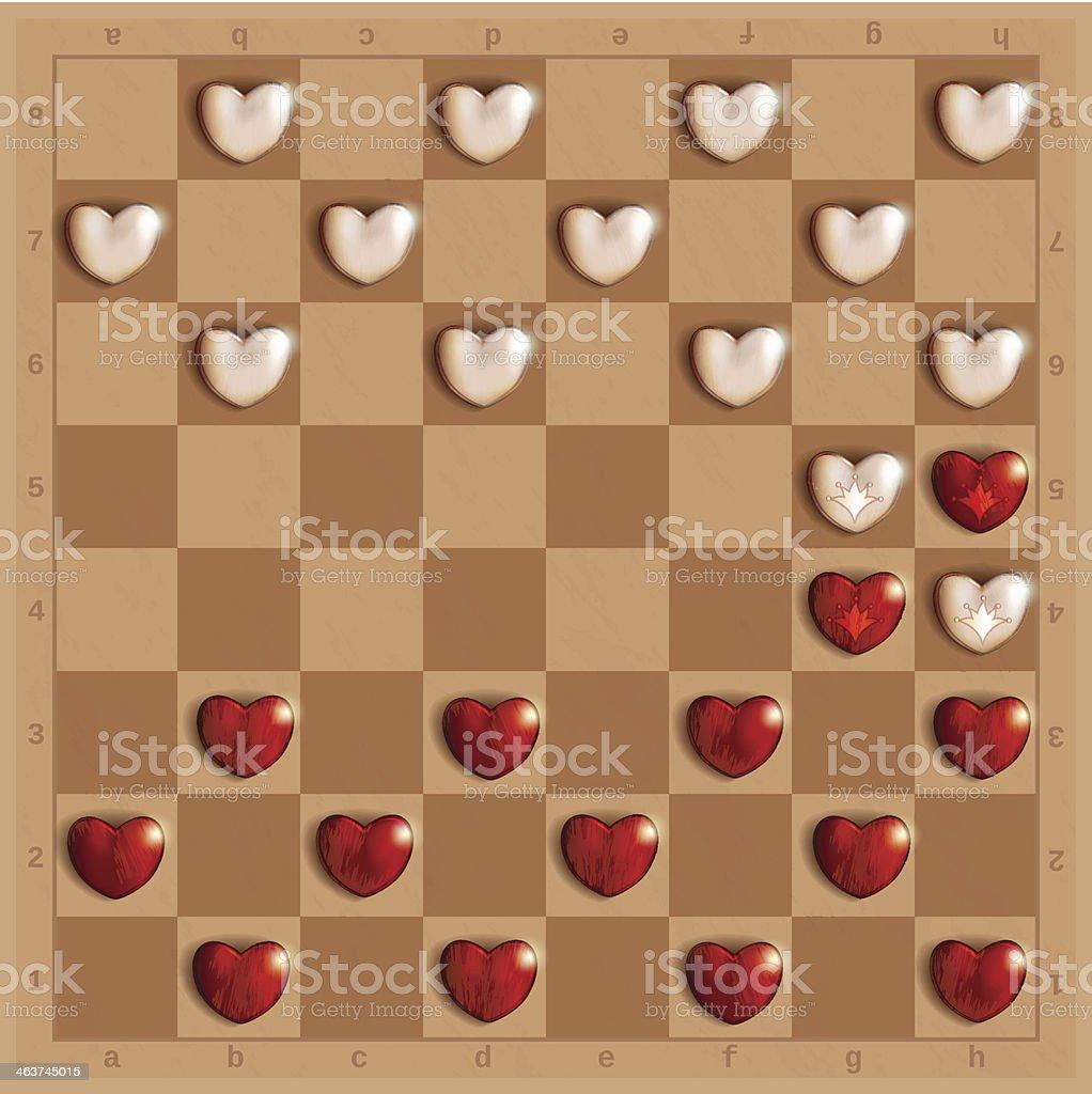 Heart Checks royalty-free stock vector art