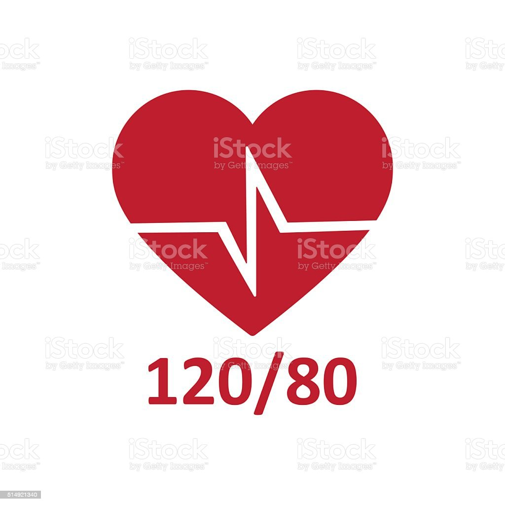 Heart cheering cardiogram. Healthy pulse, flat icon vector art illustration